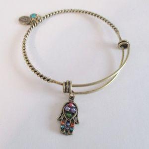 Anne Koplik Hamsa Charm Bracelet Swarovski Crystal